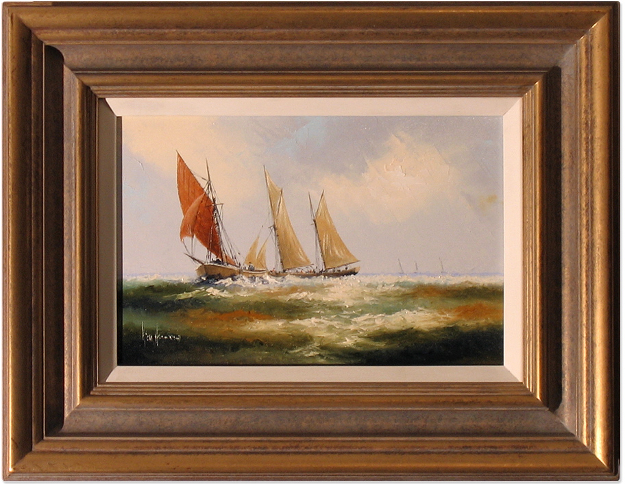 Ken Hammond, Original acrylic painting on canvas, Marine Scene Click to enlarge