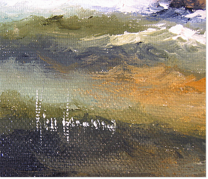 Ken Hammond, Original acrylic painting on canvas, Marine Scene Signature image. Click to enlarge