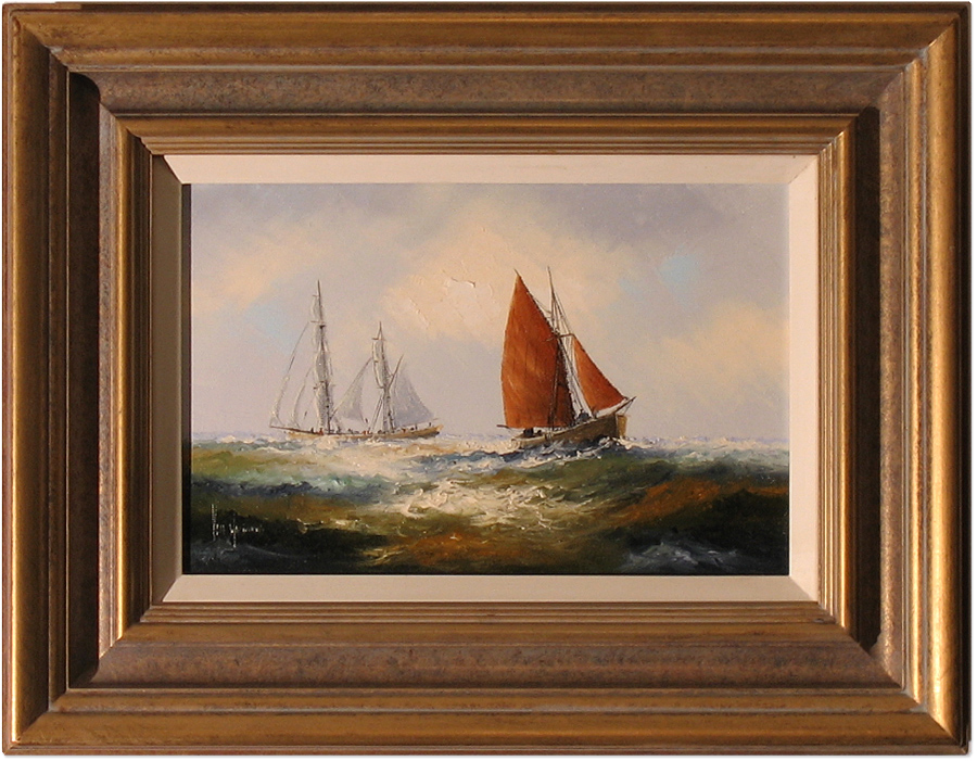 Ken Hammond, Original oil painting on canvas, Marine Scene Click to enlarge
