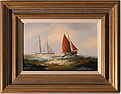 Ken Hammond, Original oil painting on canvas, Marine Scene Medium image. Click to enlarge