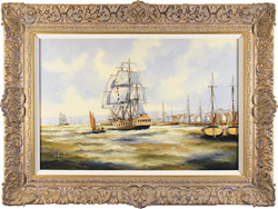 Ken Hammond, Original oil painting on canvas, Fishing off the East Coast Medium image. Click to enlarge