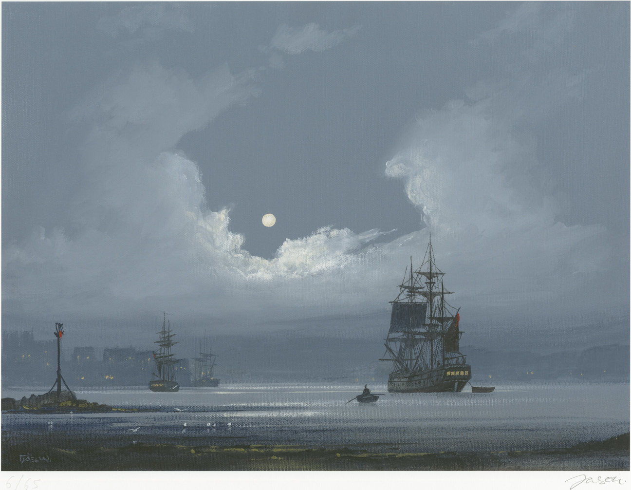 Les Spence, Signed limited edition print, The Smuggler's Return Click to enlarge