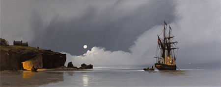 Les Spence, Original oil painting on canvas, Smuggler's Cove No frame image. Click to enlarge
