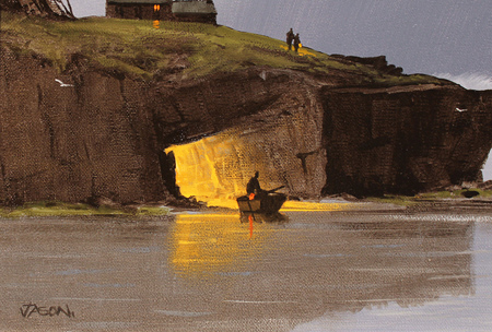 Les Spence, Original oil painting on canvas, Smuggler's Cove Signature image. Click to enlarge