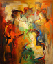 Maria de Vries, Original oil painting on canvas, Untitled