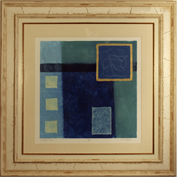 Mark Spain, Limited edition collagraph, Mystical Blues