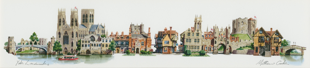 Matthew Cook, Print, York Landmarks Click to enlarge