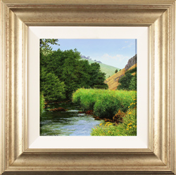 Michael James Smith, Original oil painting on panel, River Dove, Derbyshire
