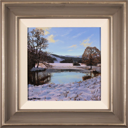 Michael James Smith, Original oil painting on panel, Snow Reflections
