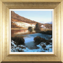 Michael James Smith, Original oil painting on panel, Snow in the Lakes