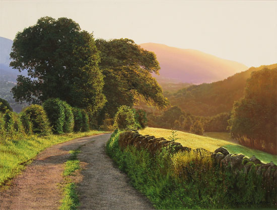Michael James Smith, Original oil painting on canvas, Keswick No frame image. Click to enlarge