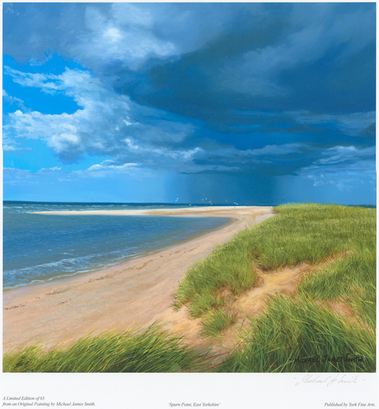 Michael James Smith, Signed limited edition print, Spurn Point, East Yorkshire No frame image. Click to enlarge
