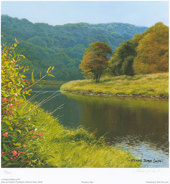 Michael James Smith, Signed limited edition print, The River Wye No frame image. Click to enlarge