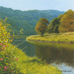 Michael James Smith, Signed limited edition print, The River Wye Medium image. Click to enlarge