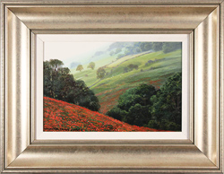 Michael James Smith, Original oil painting on panel, Poppy View