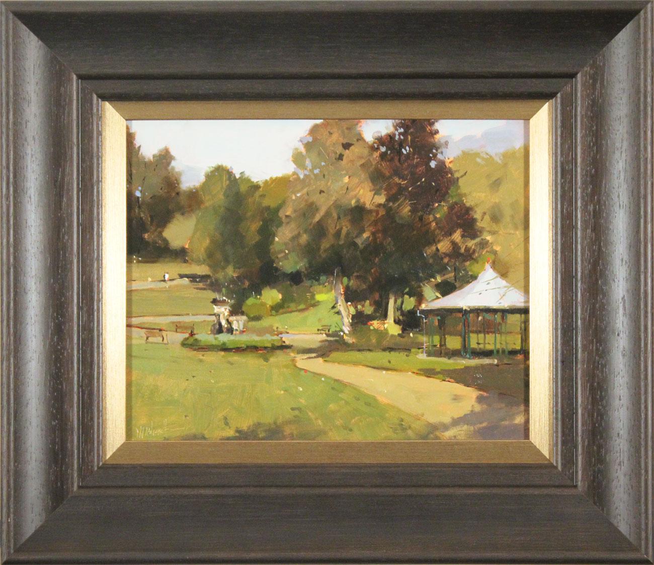 Michael John Ashcroft, AROI, Original oil painting on panel, Parklife  Click to enlarge