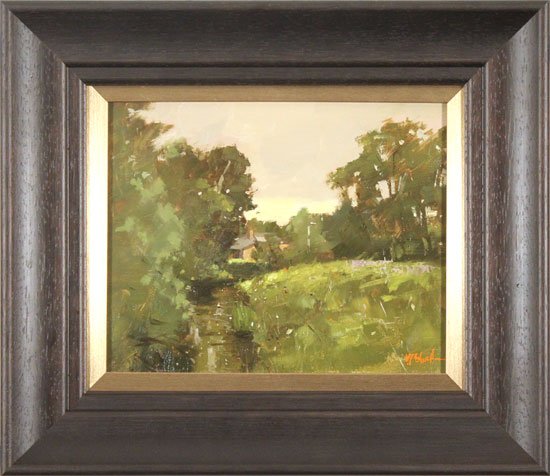 Michael John Ashcroft, MAFA, Original oil painting on panel, River Yarrow