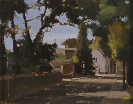Michael John Ashcroft, AROI, Original oil painting on panel, The Old Post Office No frame image. Click to enlarge