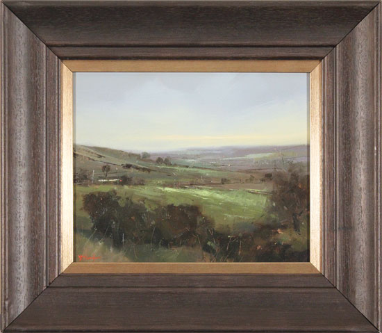 Michael John Ashcroft, MAFA, Original oil painting on panel, A Distant Harrogate