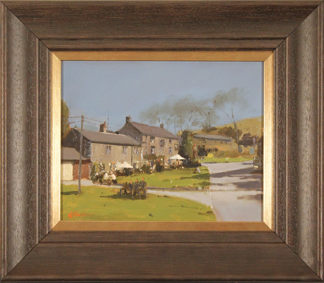 Michael John Ashcroft, AROI, Original oil painting on panel, A Pint at the Lister Arms, Malham, Yorkshire Click to enlarge