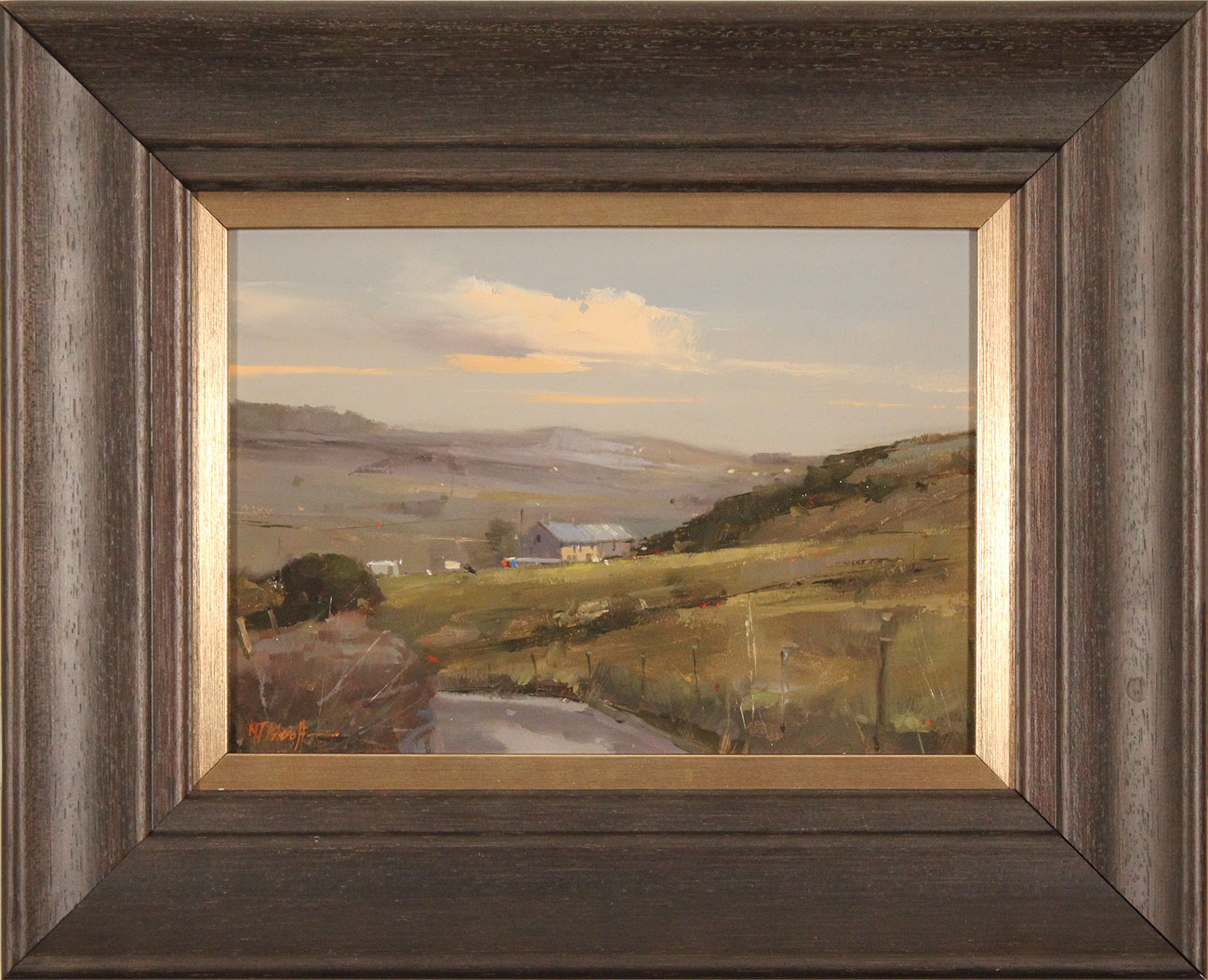 Michael John Ashcroft, AROI, Original oil painting on panel, Road to Harrogate Click to enlarge