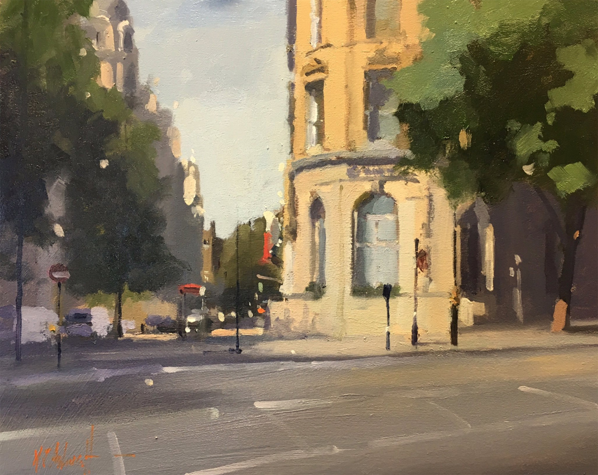 Michael John Ashcroft, AROI, Original oil painting on panel, Corinthian Hotel, London Click to enlarge