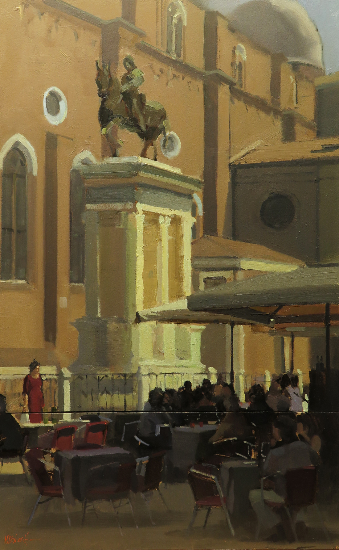 Michael John Ashcroft, AROI, Original oil painting on panel, Campo S Giovanni, Venice Click to enlarge