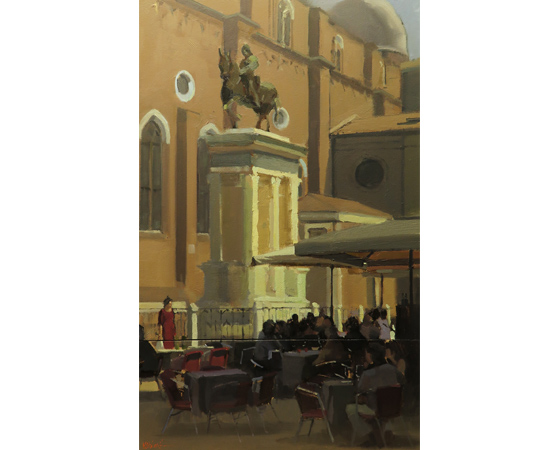 Michael John Ashcroft, AROI, Original oil painting on panel, Campo S Giovanni, Venice