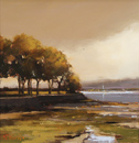 Michael John Ashcroft, Original oil painting on panel, Gold Tops