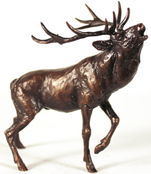 Michael Simpson, Bronze, Stag Roaring Medium image. Click to enlarge