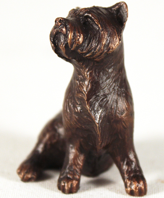 Michael Simpson, Bronze, Westie Sitting No frame image. Click to enlarge