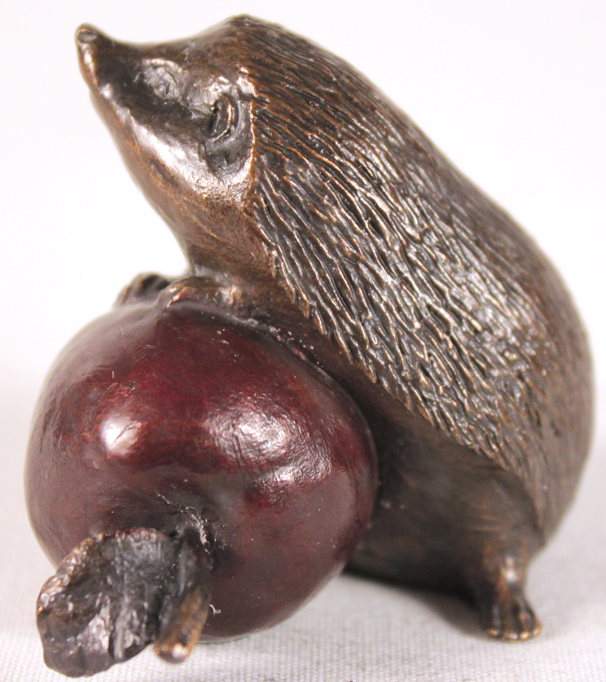 Michael Simpson, Bronze, Hedgehog with Apple Click to enlarge