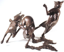 Michael Simpson, Bronze, Running Wild Medium image. Click to enlarge