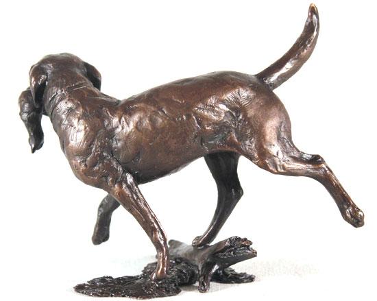 Michael Simpson, Bronze, Working Labrador No frame image. Click to enlarge