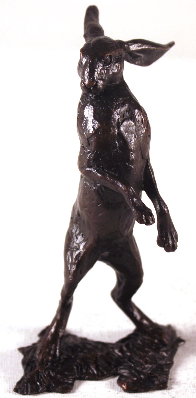 Michael Simpson, Bronze, Small Hare Standing Click to enlarge