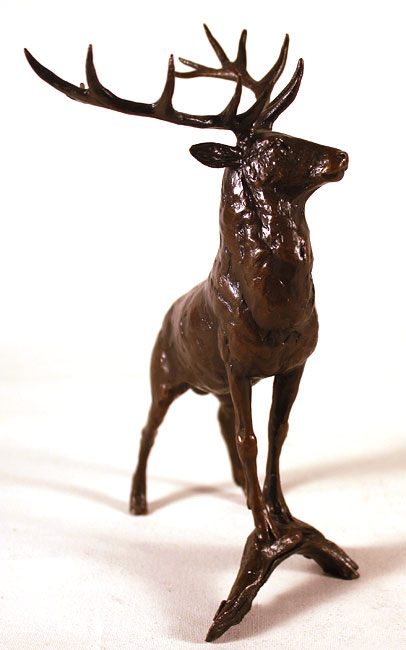 Michael Simpson, Bronze, Regal Stag No frame image. Click to enlarge