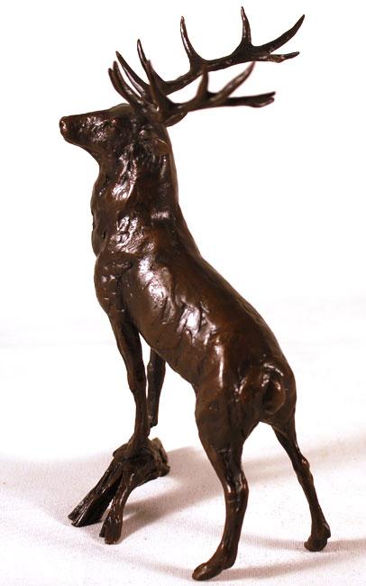 Michael Simpson, Bronze, Regal Stag Signature image. Click to enlarge