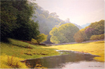 Michael James Smith, Original oil painting on canvas, Evening Light in Derbyshire, £ Contact Gallery
