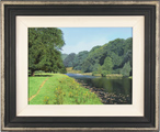 Michael James Smith, Original oil painting on panel, The River Tweed, Scotland