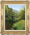 Michael James Smith, Original oil painting on canvas, River Derwent