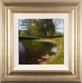 Michael James Smith, Original oil painting on panel, The River Wye, Derbyshire