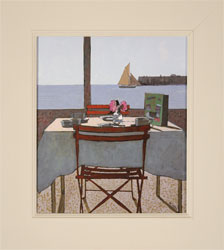 Mike Hall, Original acrylic painting on board, View from the Dining Table