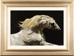 Natalie Stutely, Original oil painting on panel, Andalusian
