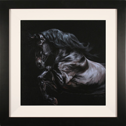 Natalie Stutely, Original oil painting on panel, Andalusian Stallion