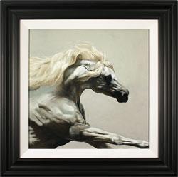 Natalie Stutely, Original oil painting on panel, Andalusian Stallion Medium image. Click to enlarge