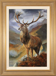 Natalie Stutely, Highland Monarch, Original oil painting on panel