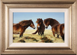 Natalie Stutely, Original oil painting on panel, Moorland Ponies Medium image. Click to enlarge