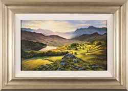 Suzie Emery, Langdale Pikes, Lake District, Original acrylic painting on board