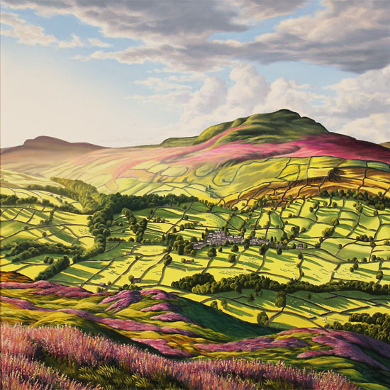 Suzie Emery, Original acrylic painting on board, Yorkshire Glory No frame image. Click to enlarge