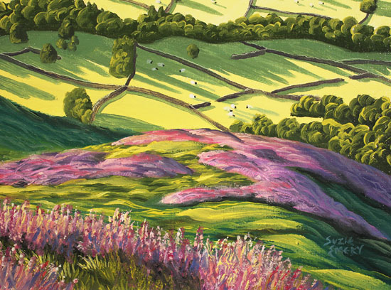 Suzie Emery, Original acrylic painting on board, Yorkshire Glory Signature image. Click to enlarge
